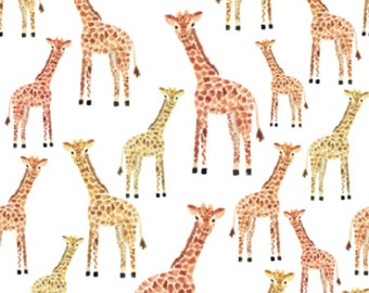 Giraffe Safari Nursery Animals Fabric by the Yard Cotton Fabric Childrens Minky Knit Organic Cotton Baby Nursery Fabric 6341473