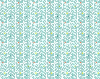 Sundaland Jungle - Climbing Vines in Blue by Katy Tanis for Blend Fabrics