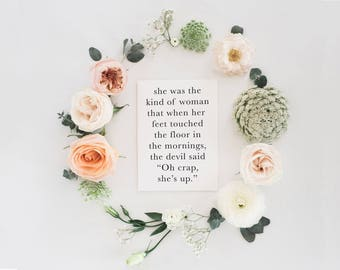 Oh Crap She's Up   Funny Christian Card   Bible Card   Scripture Card   Cards For Her   Gifts For Her   Thinking Of You Card   Blank Card