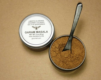 Garam Masala Spice Blend in Food Safe 4 oz Resealable Tin