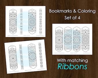 Bookmark Coloring Mandala Bookmark Set Color Bookmark Bookmark for books Bookmark Personalized Bookmark Personalized Bookmark Accessories