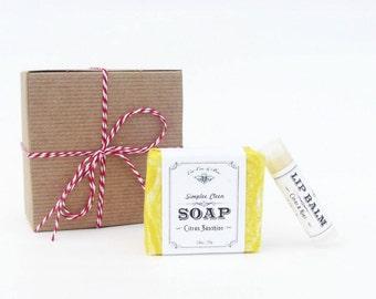 Citrus Gift Pack - Lip Balm & Soap