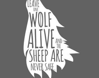 Game of Thrones Wolf Decal