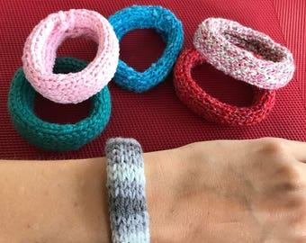 Knitted bracelets / BANGLES
