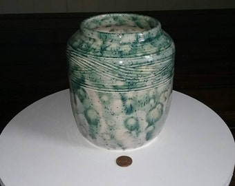 Handmade Vessel made on the potters wheel.