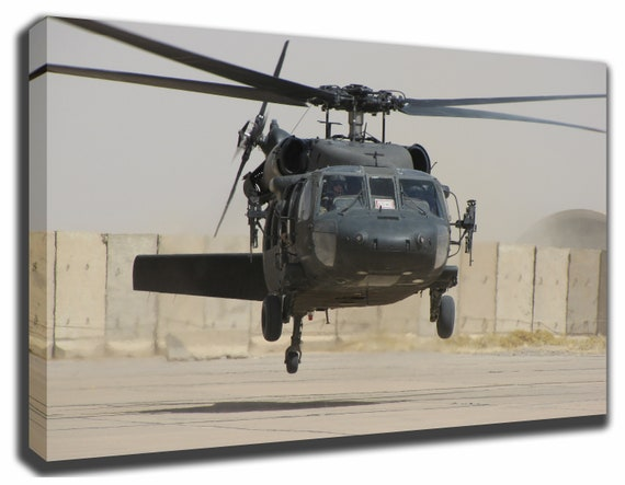 Sikorsky UH-60 Black Hawk Helicopter Canvas/Poster Wall Art