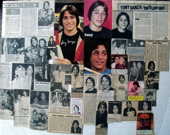 TONY DANZA ~ Taxi, Who's The Boss, Family Law, She's Out of Control, Don Jon ~ Color and B&W Clippings from 1979-1989
