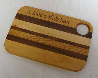 Personalized Engraved Wooden Cutting Board Small Size