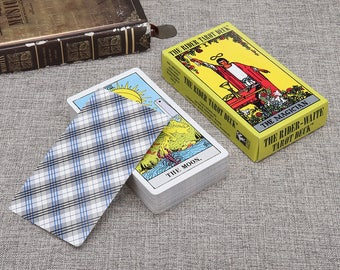 Tarot Cards Boxed Deck Set Fortune telling Vintage Board Game 78Pcs Rider Waite English Full Version