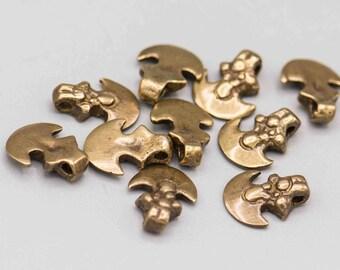 Brass Ax Head Rustic Ethnic Pendant 10x13mm 10 Charms SKU-PENB-36