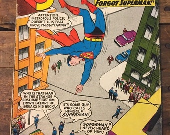 Superman #150 DC Comics 1962 When the World Forgot Superman