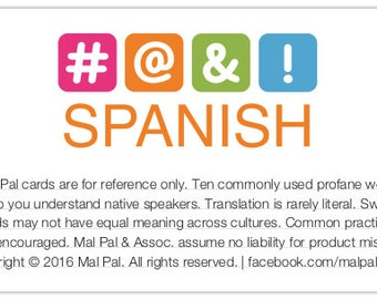 Mal Pal - Spanish card (digital file only)
