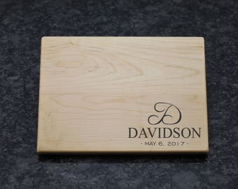 Monogram Cutting Board, Custom Cutting Board, Custom Chopping Block, Monogram Chopping Block, Cutting Board, Custom Engraved Gift, Board, 22