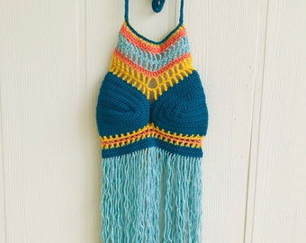 Crocheted Halter Top - Adult size