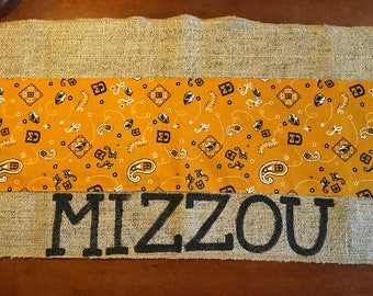 "14""x72"" Missouri table runner ~ made to order"