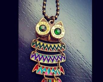 Bullet Eyed Owl Necklace