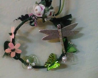 Dragonfly Medallion / Magic Forest Pendant / Fairytale Story Necklace