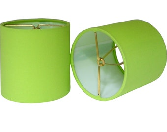 Chandelier Shade Sconce Clip-On Lamp Shade Lampshade Sprout Kona Cotton Apple Green Made to Order