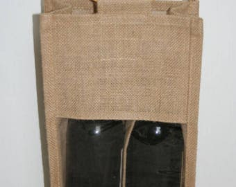 Bag in Burlap for 2 bottles