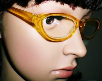 Economy Women's Vintage Reproduction Lemon Amber Frame Reading Glasses +2.75