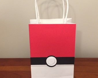 Pokemon Go Pokeball favor bags
