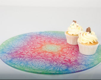 Kaleidoscope Design Cake Plate