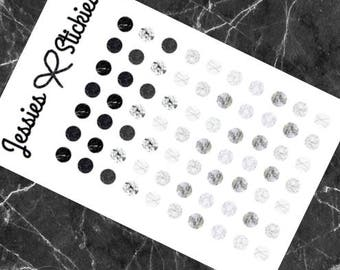 Marble journaling dots stickers