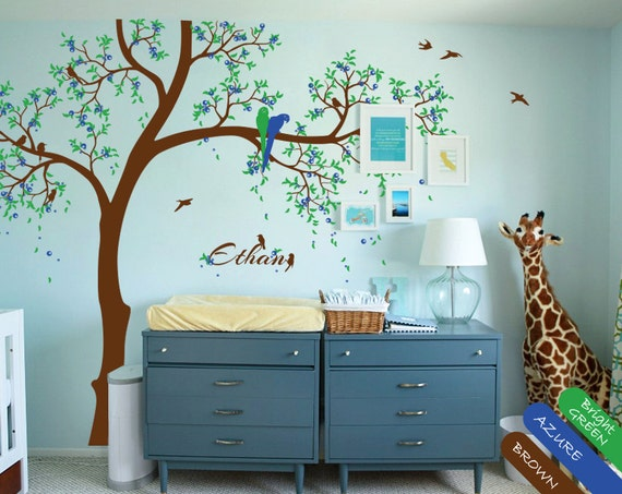 stickers muraux salle de jeux avec nom personnalis b b et. Black Bedroom Furniture Sets. Home Design Ideas