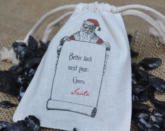 Better Luck Gift Bag with Lumps of Coal for Christmas Gag Gift or Stocking Stuffer