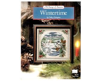 Wintertime Cross Stitch Leaflet, Winter Cross Stitch Pattern, Bird Cross Stitch, Seasons Cross Stitch, Cross Stitch, NewYorkTreasures Etsy