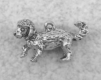 Green Girl Studios Pewter Bichon Frise Dog Bead