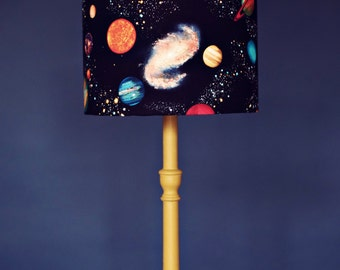 Planet Lampshade, Stars Lamp Shade, Space Birthday Gift, Kids Lamps,  Childrens Lampshade