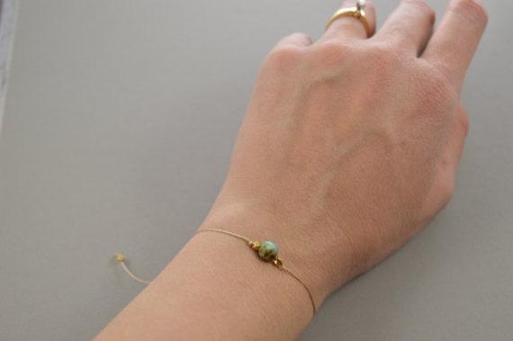 Turquoise Bracelet, genuine turquoise, December Birthstone, best friend gift, minimalist jewelry, best friend bracelet, beaded bracelet