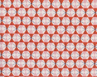 Welsummer by Kimberly Kight for Cotton and Steel -- Fat Quarter of Chicken Wire in Poppy