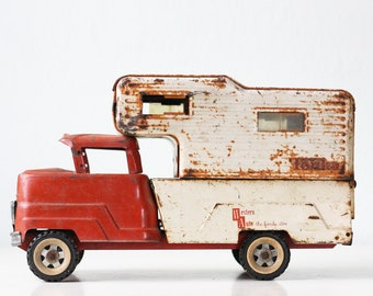 Vintage Tonka Winnebago, Red Toy Camper, Structo, Western Auto