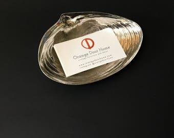 Silverplate Shell Shaped Trinket Dish