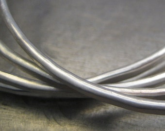Essential Silver Bangle........Hammered Sterling Silver Bracelet