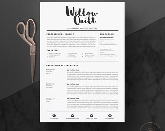 """5 page Resume Template / CV Template Pack + Cover Letter & References for Microsoft Word + Icon Pack 