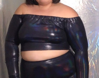 long sleeve crop top   made to order   plus size