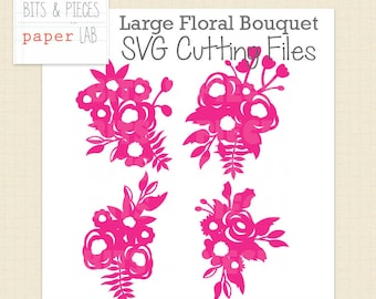 SVG Cutting Files: Large Floral Bouquet SVG, Flower SVG, Floral svg