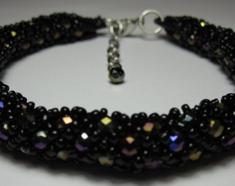 Handcrafted Beaded Bangle Bracelet