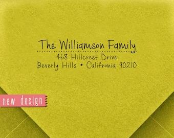 CUSTOM pre inked address STAMP from USA, custom address stamp, pre inked custom address stamp, return address stamp with proof - Stamp b5-37