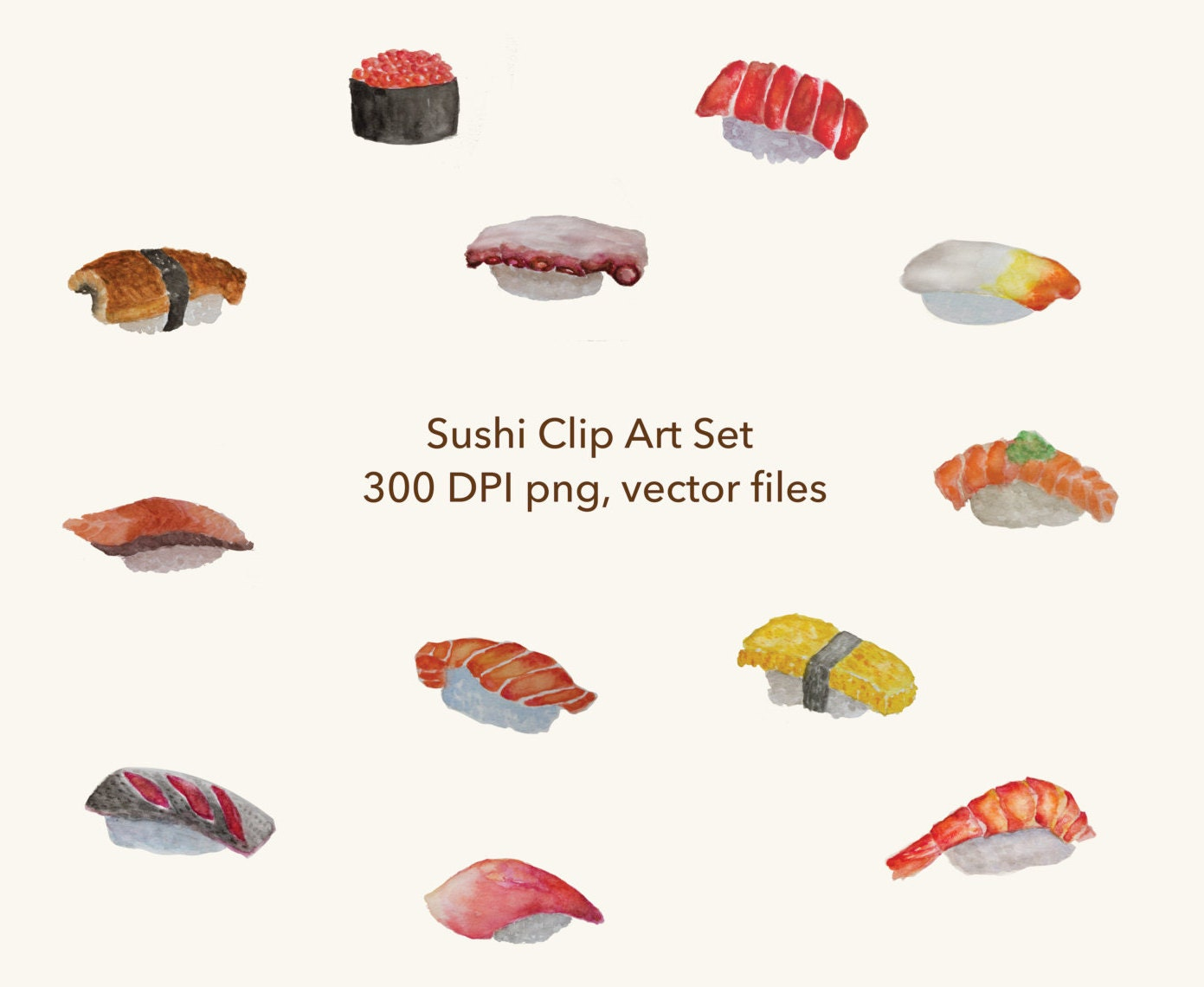 Sushi Clip Art Set-Japan Clip Art Design