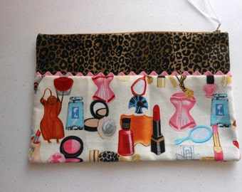 Zippered Pouch Cosmetic Bag Electronics Bag