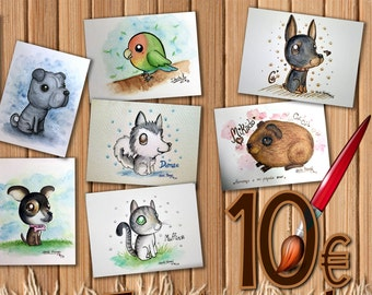 Personalized Watercolor Pets