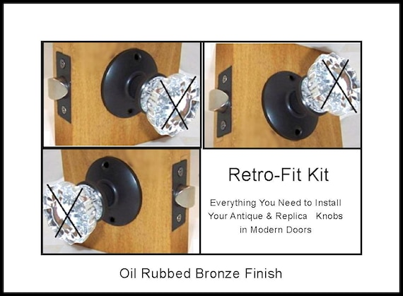 ANTIQUE Door Knobs Kits to Fit Your Modern Predrilled and Some