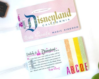 Luggage Tags, Tickets (Set of two)