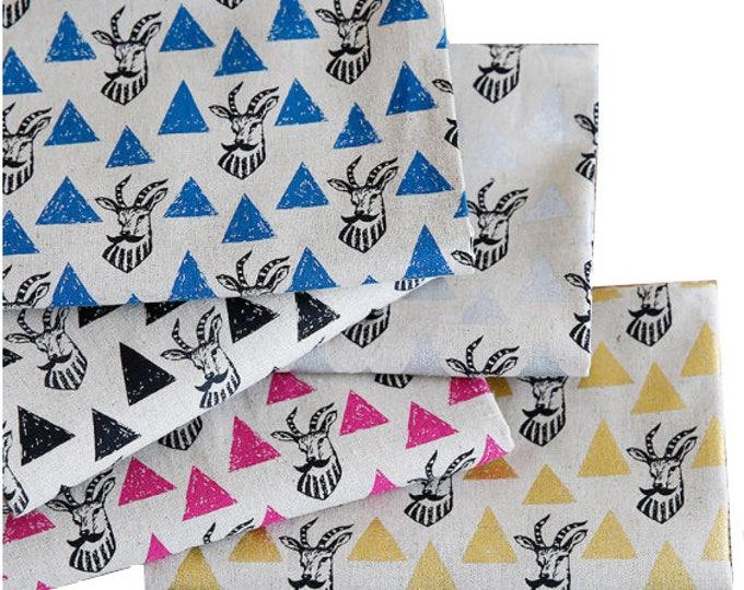 Fat Quarter  Echino Triangles Impala EF402 , Cotton Linen Fabric bundle - Etsuko Furuya, select a color