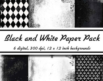 Black and White Paper Pack