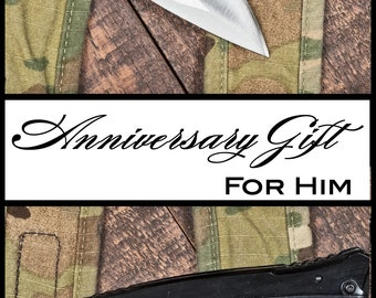 Anniversary Gift For Men, Engraved pocket knife, gift for boyfriend, anniversary present, wedding gift from bride, gift from wife
